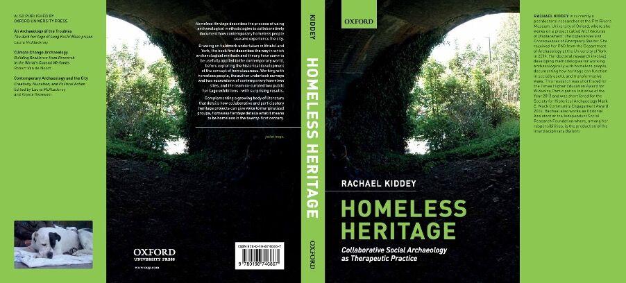 Author Rachael Kiddey of book title Homeless Heritage